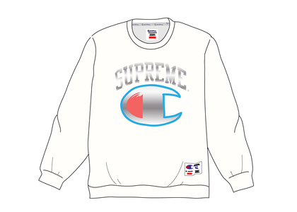 Supreme Champion Chrome Crewneck Whiteの写真