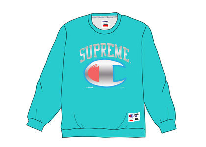 Supreme Champion Chrome Crewneck Dark Tealの写真