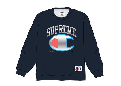 Supreme Champion Chrome Crewneck Navyの写真