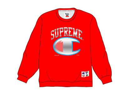 Supreme Champion Chrome Crewneck Redの写真