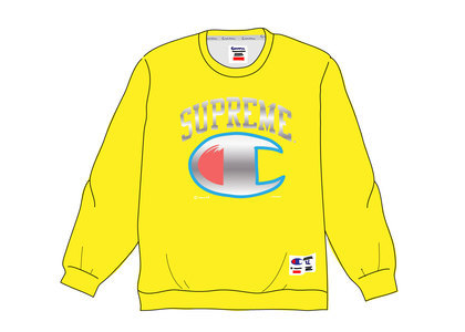 Supreme Champion Chrome Crewneck Goldの写真