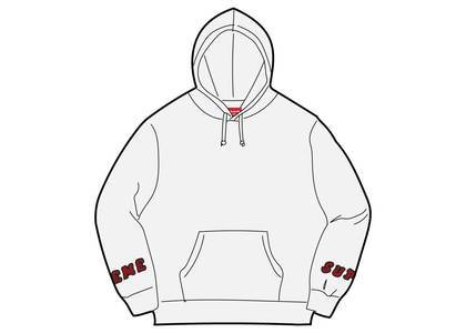 Supreme Wrist Logo Hooded Sweatshirt Ash Greyの写真