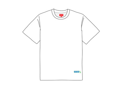 Supreme Athletic Label Tee Whiteの写真