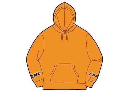 Supreme Wrist Logo Hooded Sweatshirt Orangeの写真