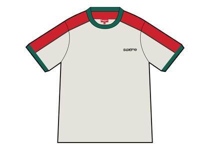 Supreme Shoulder Stripe Terry S-S Top Whiteの写真