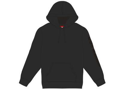 Supreme Overdyed Hooded Sweatshirt Blackの写真