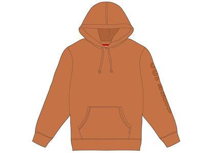 Supreme Overdyed Hooded Sweatshirt Rustの写真