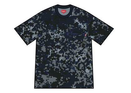 Supreme S-S Pocket Tee Navy German Camoの写真
