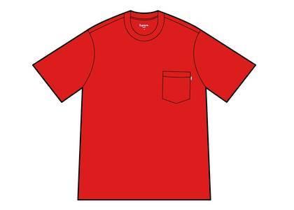 Supreme S-S Pocket Tee Redの写真