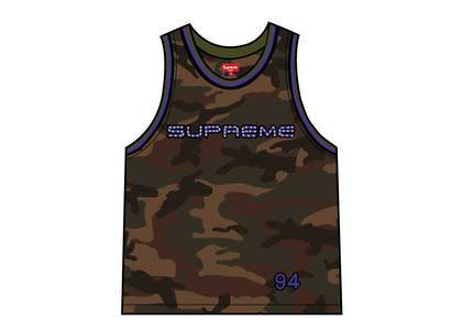 Supreme Rhinestone Basketball Jersey Woodland Camoの写真