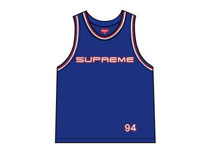 Supreme Rhinestone Basketball Jersey Royalの写真