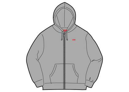 Supreme Small Box Zip Up Sweatshirt (SS19) Heather Greyの写真