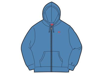 Supreme Small Box Zip Up Sweatshirt (SS19) Columbia Blueの写真