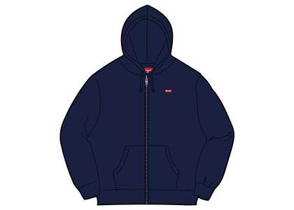 Supreme Small Box Zip Up Sweatshirt (SS19) Navyの写真