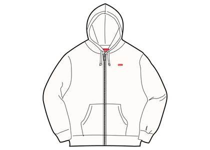 Supreme Small Box Zip Up Sweatshirt (SS19) Whiteの写真