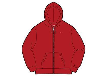 Supreme Small Box Zip Up Sweatshirt (SS19) Redの写真