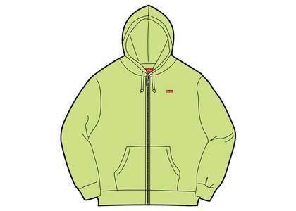 Supreme Small Box Zip Up Sweatshirt (SS19) Bright Yellowの写真