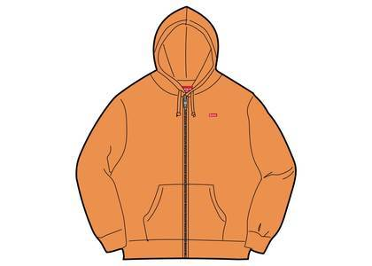 Supreme Small Box Zip Up Sweatshirt (SS19) Pale Orangeの写真