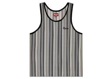 Supreme Knit Stripe Tank Top Blackの写真