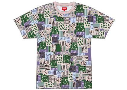 Supreme Patchwork Paisley S-S Top Pinkの写真