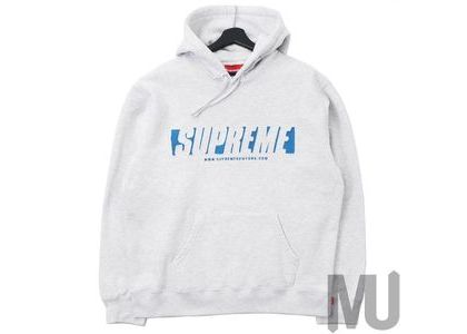 Supreme Reflective Cutout Hooded Sweatshirt Ash Greyの写真
