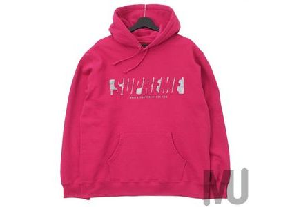Supreme Reflective Cutout Hooded Sweatshirt Fuchsiaの写真