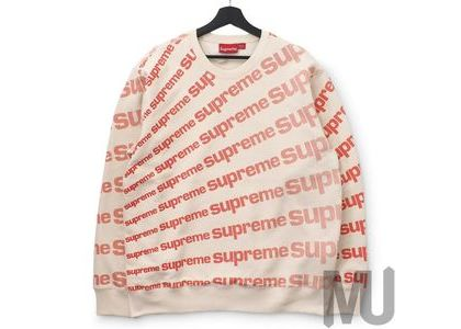 Supreme Radial Crewneck Naturalの写真
