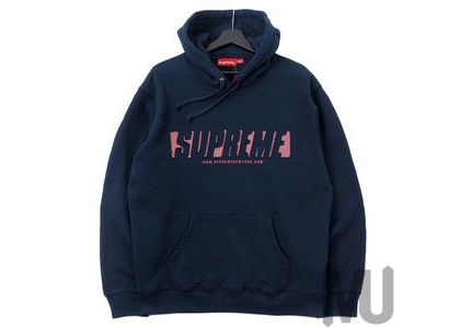 Supreme Reflective Cutout Hooded Sweatshirt Navyの写真