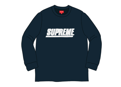 Supreme Studded L-S Top Navyの写真