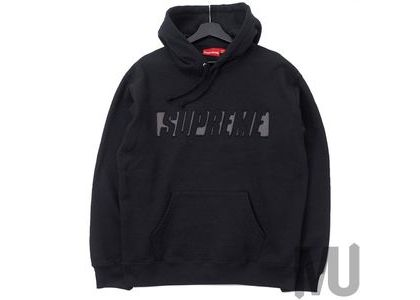 Supreme Reflective Cutout Hooded Sweatshirt Blackの写真