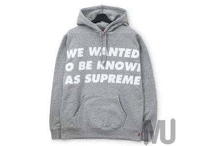 Supreme Known As Hooded Sweatshirt Heather Greyの写真