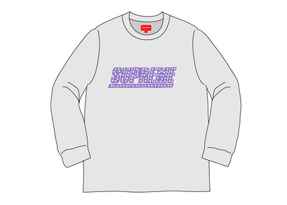 Supreme Studded L-S Top Heather Greyの写真
