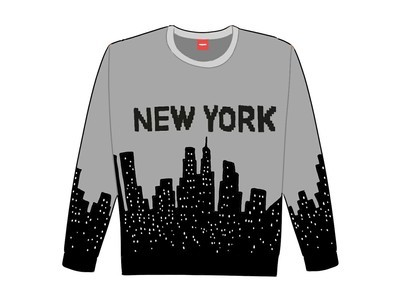 Supreme New York Sweater Whiteの写真