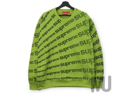 Supreme Radial Crewneck Limeの写真