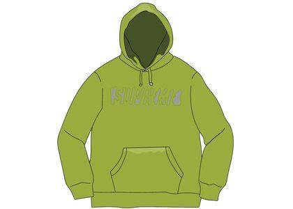 Supreme Reflective Cutout Hooded Sweatshirt Limeの写真