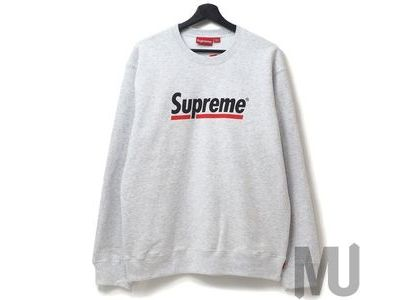 Supreme Underline Crewneck Ash Greyの写真