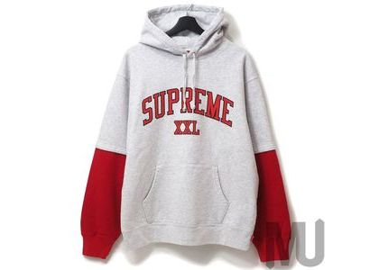 Supreme XXL Hooded Sweatshirt Ash Greyの写真