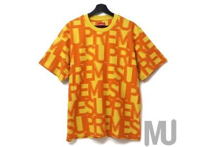 Supreme Spellout S-S Top Yellowの写真