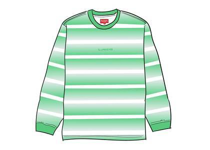 Supreme Fade Stripe L-S Top Bright Greenの写真