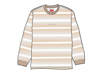 Supreme Fade Stripe L-S Top Tanの写真