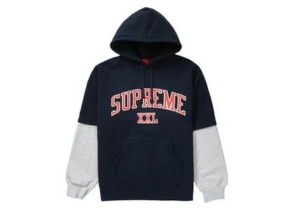 Supreme XXL Hooded Sweatshirt Navyの写真
