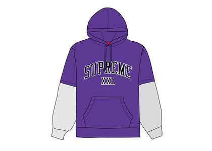 Supreme XXL Hooded Sweatshirt Purpleの写真