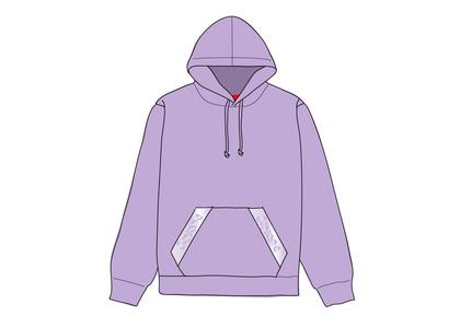 Supreme Tonal Webbing Hooded Sweatshirt Violetの写真