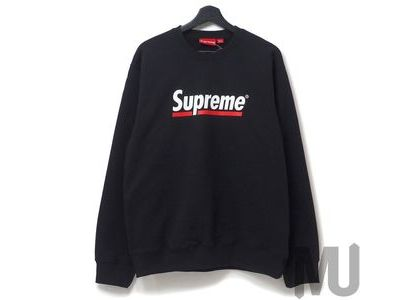 Supreme Underline Crewneck Blackの写真