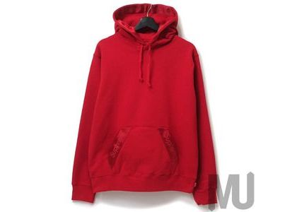 Supreme Tonal Webbing Hooded Sweatshirt Redの写真