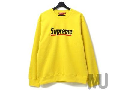 Supreme Underline Crewneck Lemonの写真