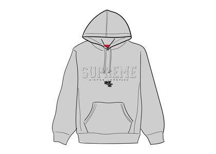 Supreme Gems Hooded Sweatshirt Ash Greyの写真