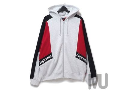 Supreme Color Blocked Zip Up Hooded Sweatshirt Ash Greyの写真