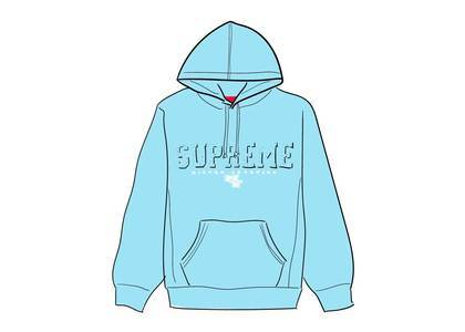 Supreme Gems Hooded Sweatshirt Ice Blueの写真