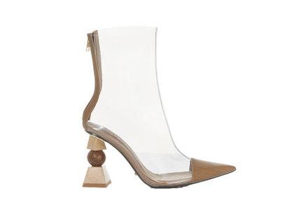 YELLO Hinoki Clear Short Boots Beigeの写真